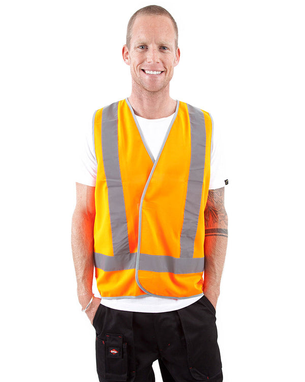 Hi Vis D/N Safety Vest - Orange