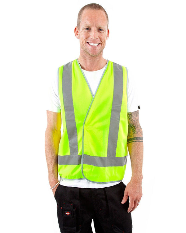 Hi Vis D/N Safety Vest - Yellow