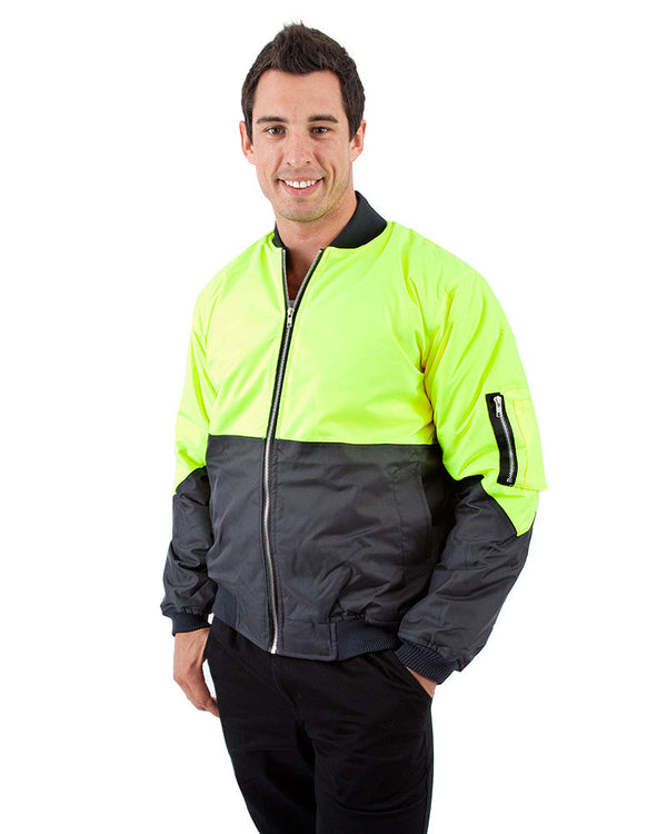 Two Tone Flying Jacket - Yellow/Navy