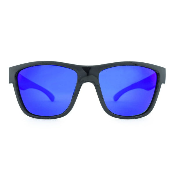 Escape Floating Polarised Sunglasses - Matt Black/Blue Revo