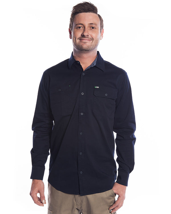 LSH-1 Stretch Work Shirt LS - Navy