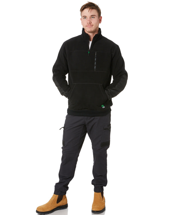 WF-2 Work Fleece 1/4 Zip - Black