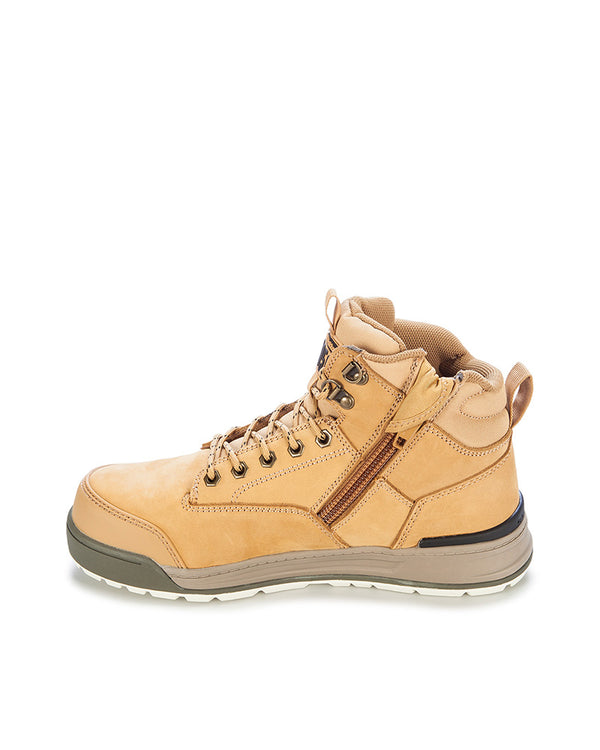 3056 Lace Zip Safety Boot - Wheat
