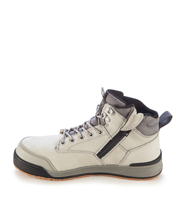 3056 Lace Zip Safety Boot - Grey