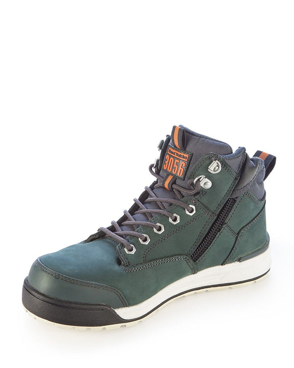 3056 Lace Zip Safety Boot - Navy