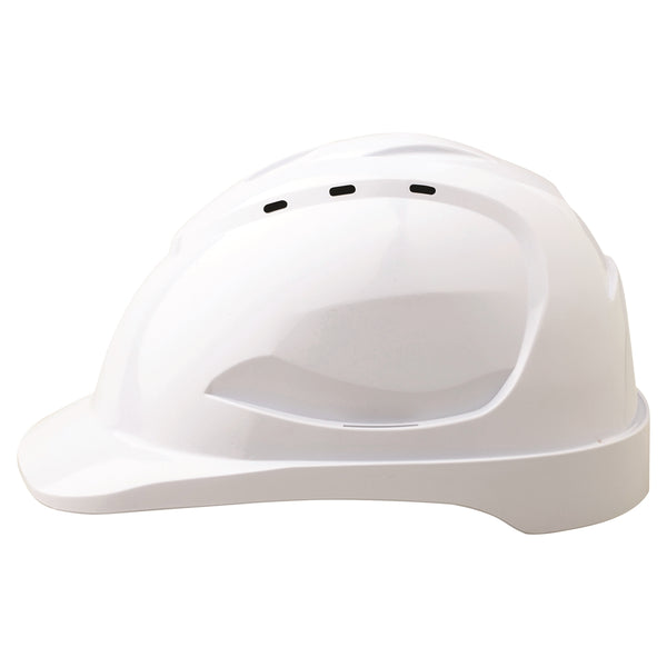 Vented Hard Hat 9 Point Ventilation - White