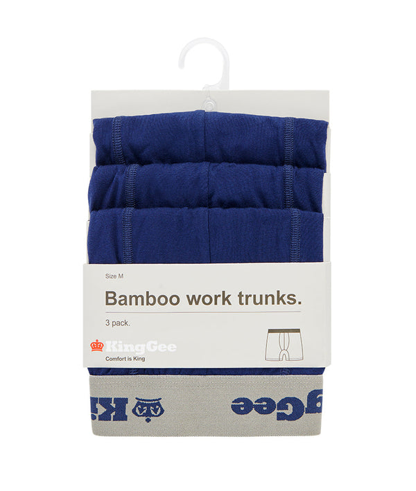 Bamboo Work Trunk 3 Pack - Navy
