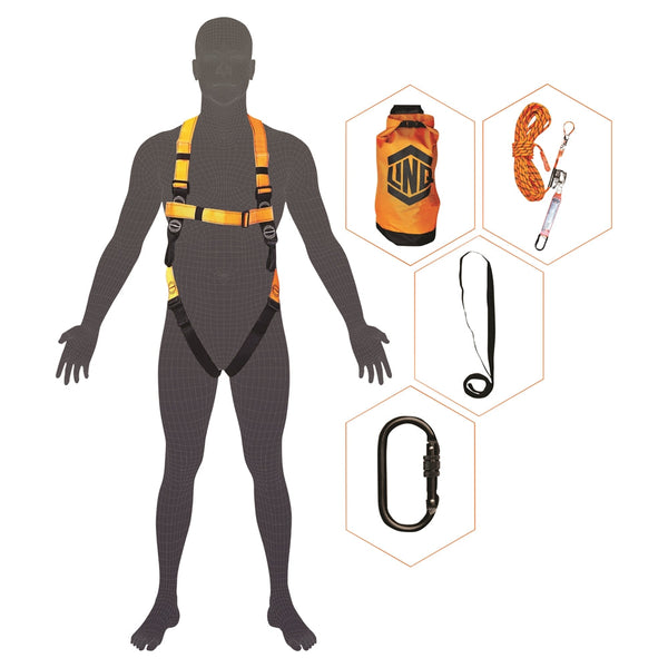 LINQ Essential Basic Roofers Harness Kit - Black