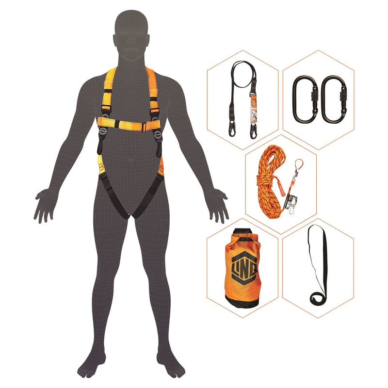 LINQ Essential Standard Roofers Harness Kit - Black
