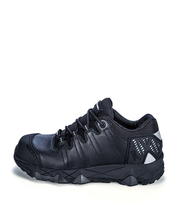 Power Lace Up Safety Shoe - Black