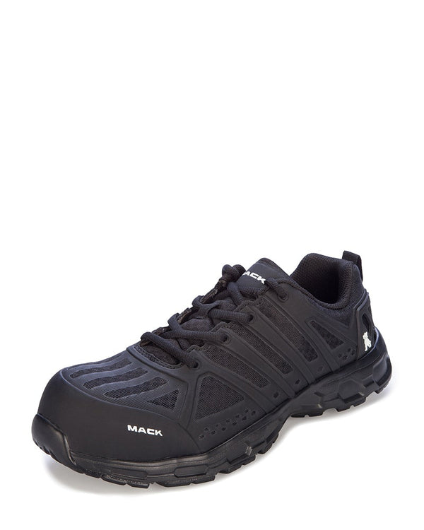 Vision Lace Up Safety Shoe - Black