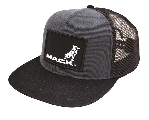 Flat Brim Trucker Hat - Black