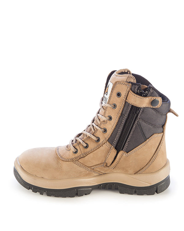 Hi Leg Zipsider Safety Boot - Stone