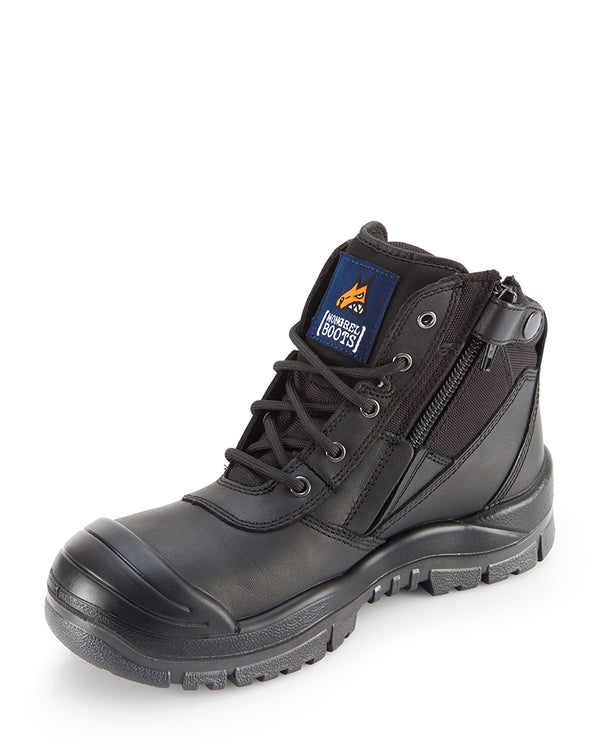 Zipsider Safety Boot With Bump Cap - Black