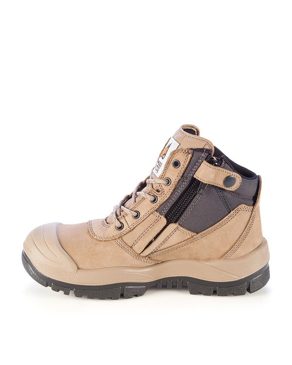 Zipsider Safety Boot With Bump Cap - Stone