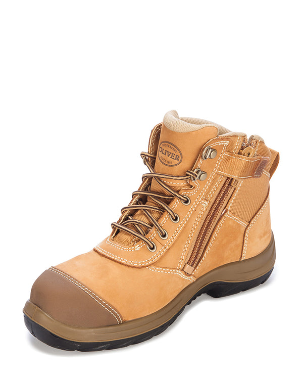 Zip Side Ankle Boot - Wheat