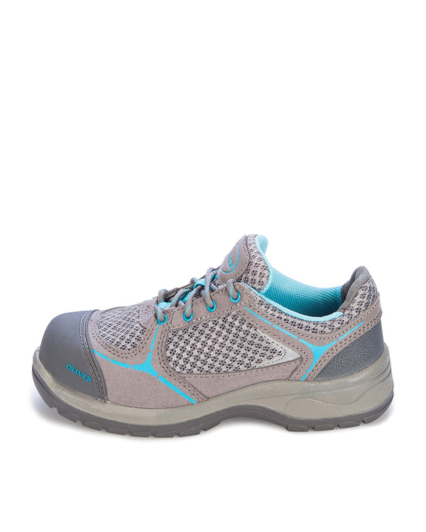 Ladies Lace Up Jogger - Blue/Grey