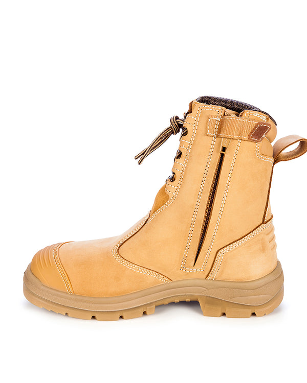55385 High Leg Zip Sided Boot - Wheat