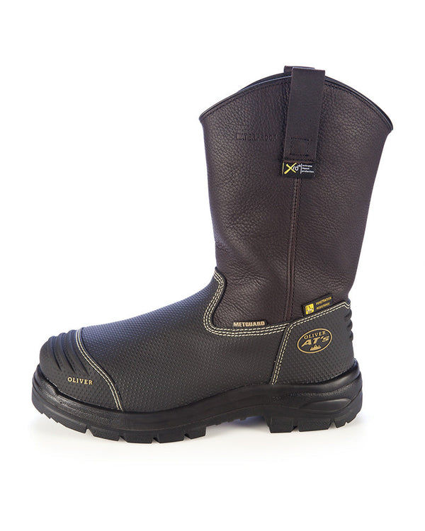 Pull On Waterproof Riggers Boot - Brown