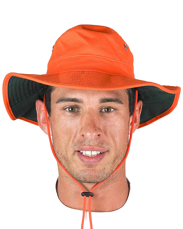 Hi Vis Wide Brim Hat - Orange