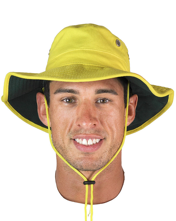 Hi Vis Wide Brim Hat - Yellow