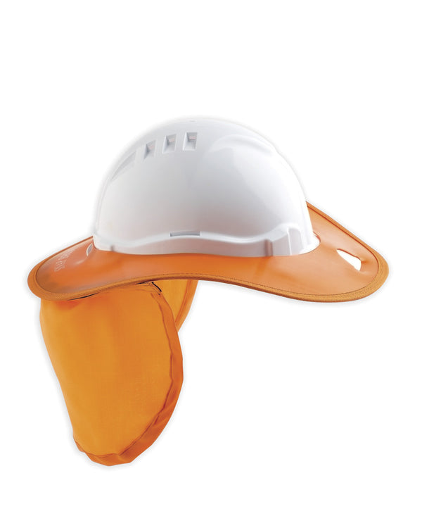 Hard Hat Brim Plastic - Orange