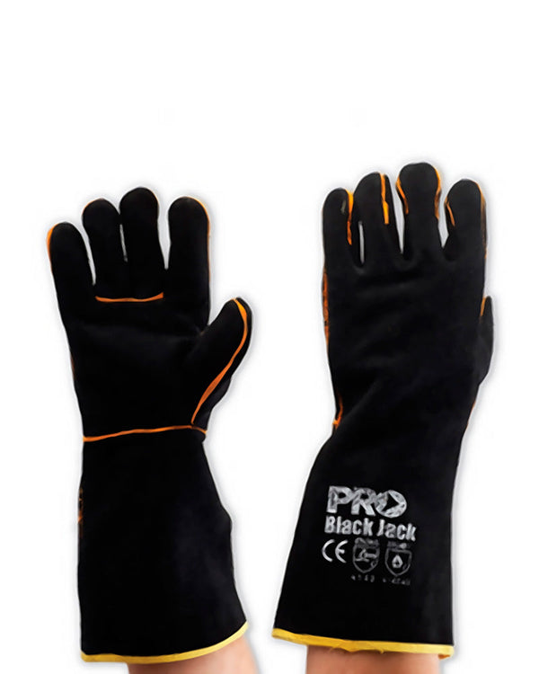 Black Jack Welders Gloves - Black/Gold