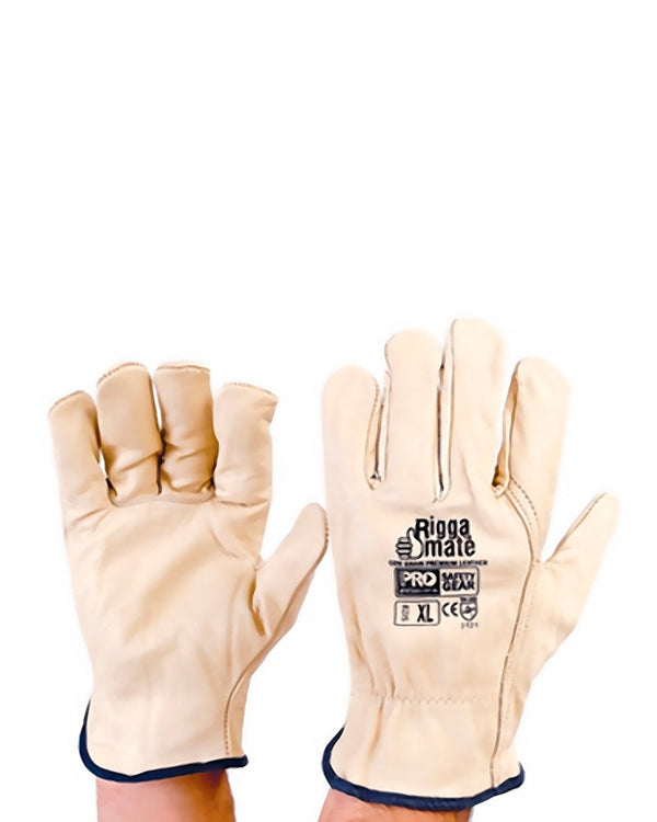 Riggamate Cow Grain Gloves - Beige