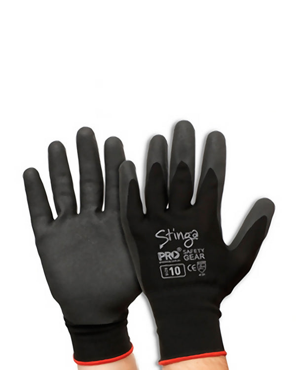 Stinga PVC Foam Glove - Black