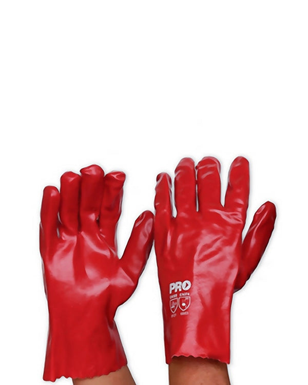 Red PVC Glove Short - Red