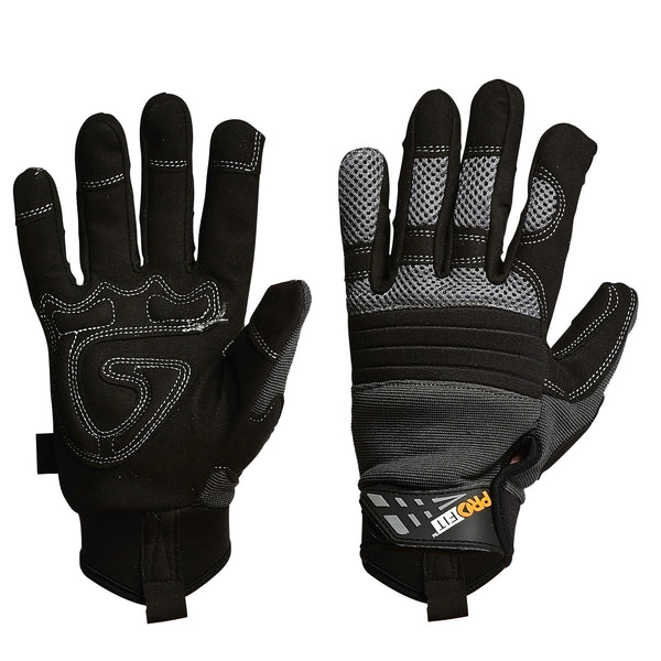 Pro-Fit Grip Full Finger Glove - Black