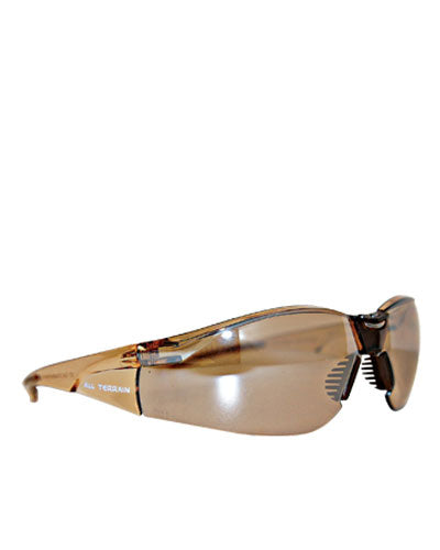 All Terrain Brown Lens Safety Glasses - Brown