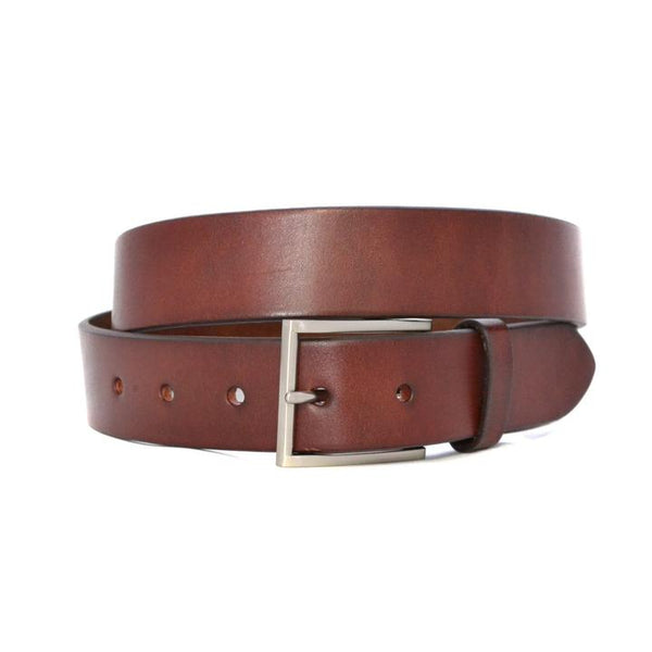 Stavros Leather Belt - Dark Tan