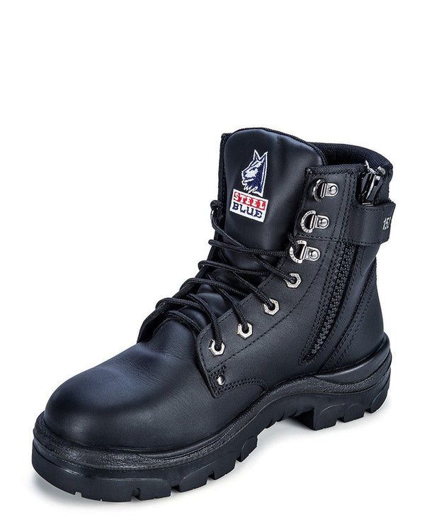 Argyle Zip Side Safety Boot Nitrile Sole size 15 and 16 only - Black