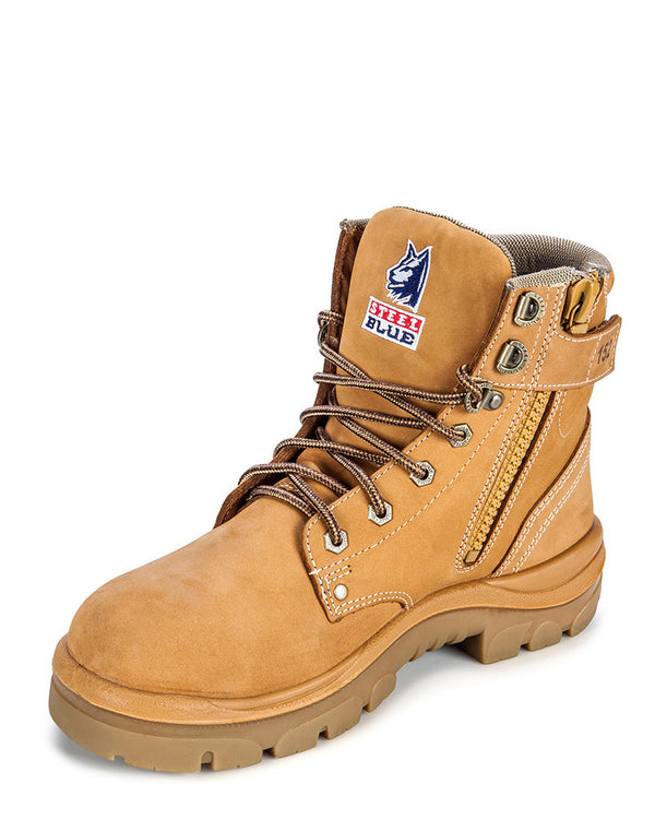Argyle Zip Side Safety Boot Nitrile Sole size 15 and 16 only - Wheat