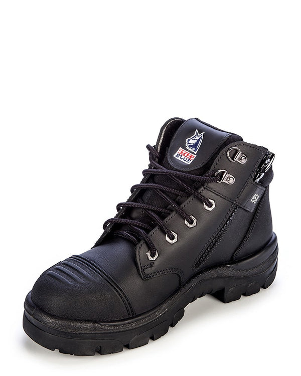 Parkes Zip Scuff Cap Safety Boot - Black