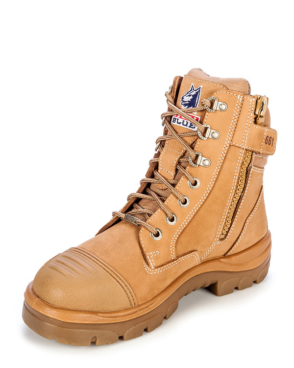 Southern Cross Zip Side Safety Boot - Wheat