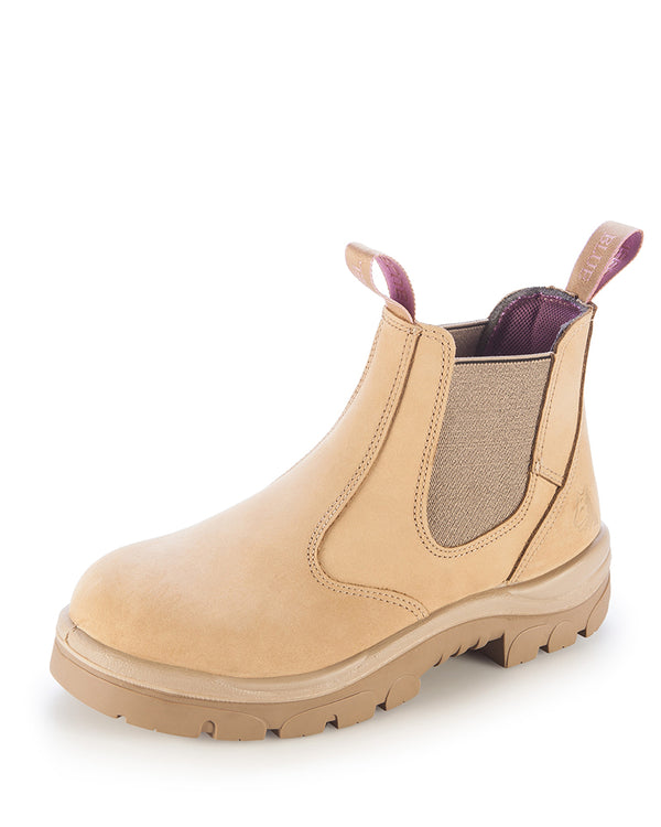 Hobart Ladies Elastic Sided Boot - Sand