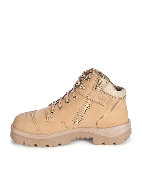Parkes Zip Scuff Cap Safety Boot - Sand