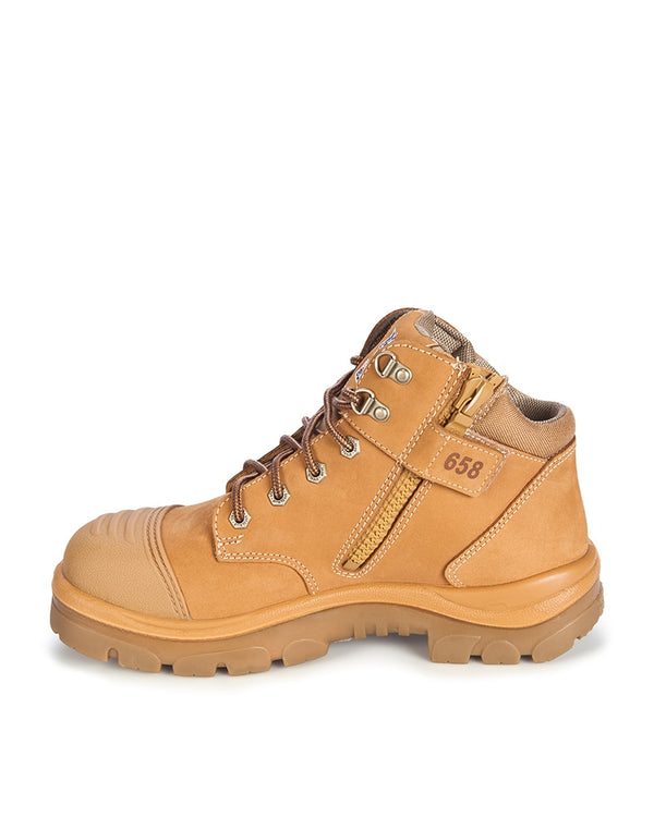 Parkes Zip Scuff Cap Safety Boot - Wheat