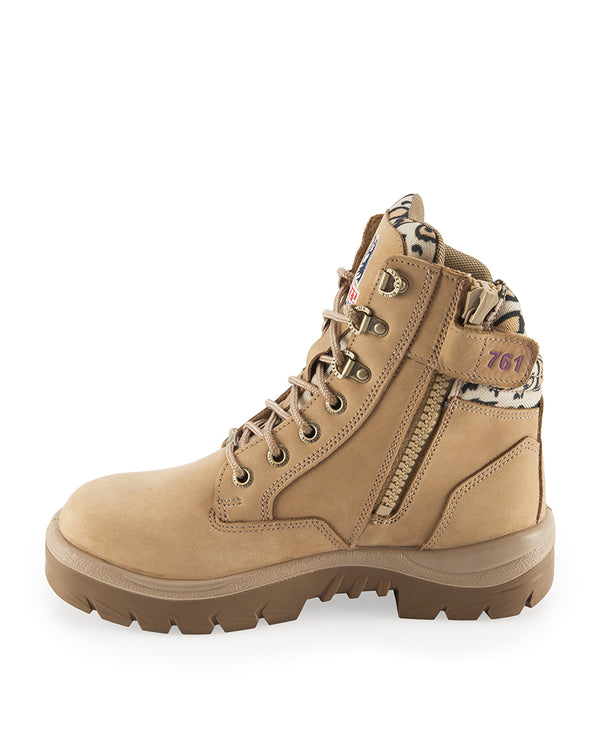 Southern Cross Zip Side Safety Jungle Boot - Jungle