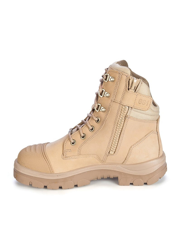 Southern Cross Zip Side Safety Boot Sand - Sand