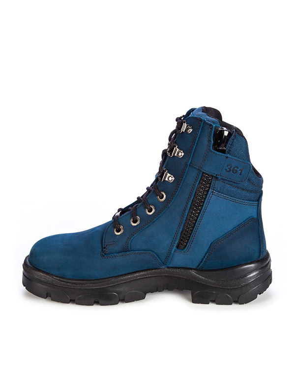 Southern Cross Zip Blue Safety Boot - Blue