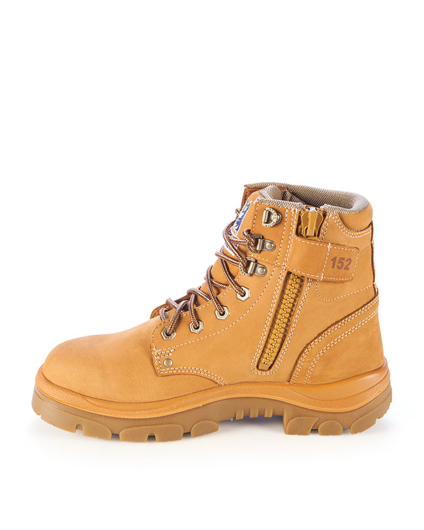 Argyle Zip Side Non Safety Boot - Wheat