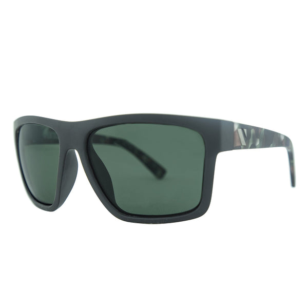 The Edge Polarised Sunglasses - Matt Black-Camo/G15