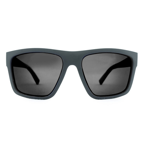 The Edge Polarised Sunglasses - Black/Smoke