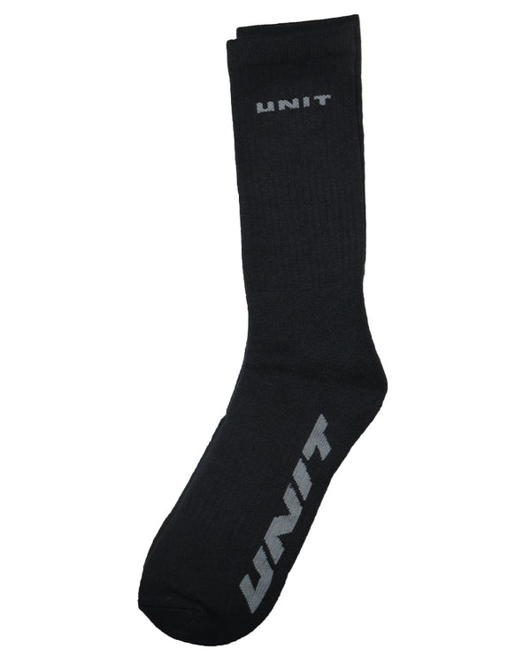 Conduct Bamboo 1 Pack Socks 7-11 - Black/Grey