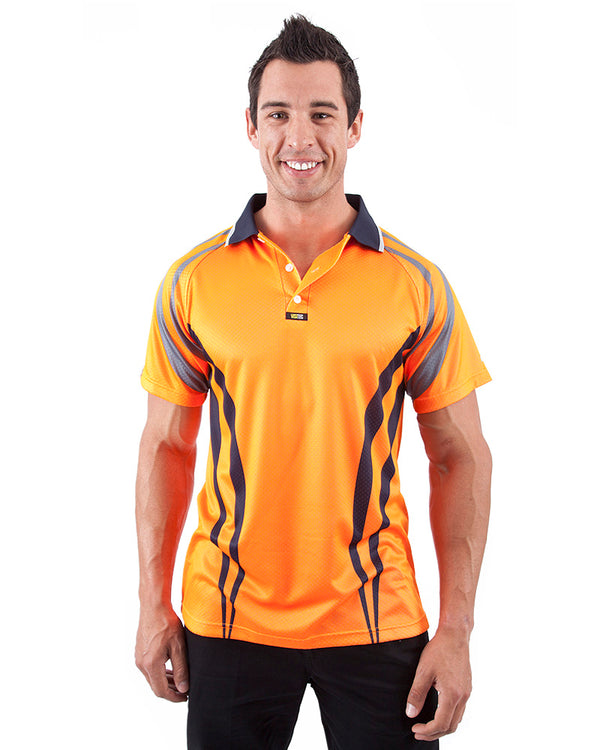 Charger Airwear Polo Shirt SS - Orange/Navy