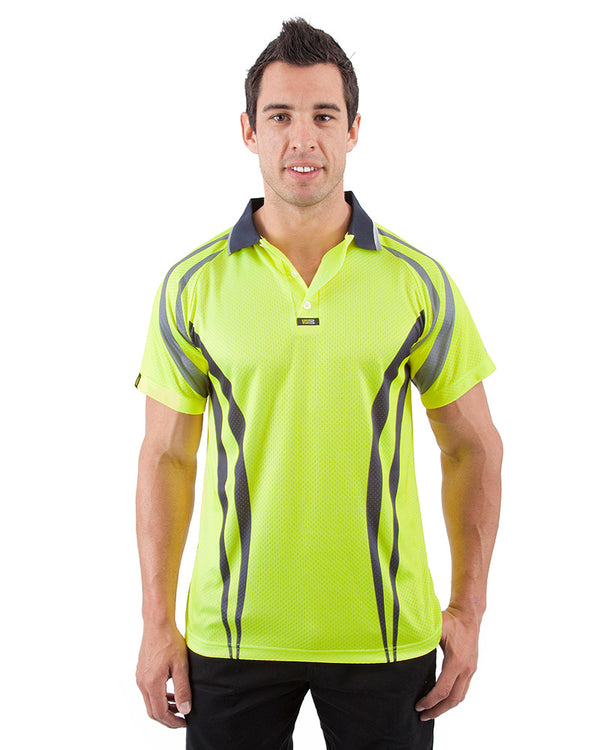 Charger Airwear Polo Shirt SS - Yellow/Navy