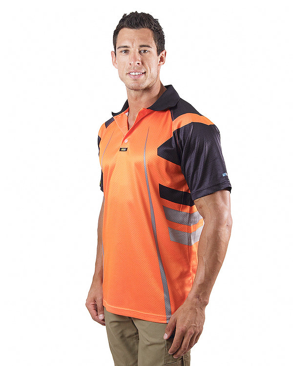Warrior Airwear Polo Shirt - Orange/Navy